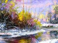 målat landskap