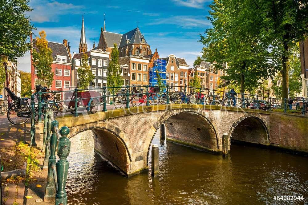 Amsterdam - ponte sobre o canal em Amsterdam (14×10)
