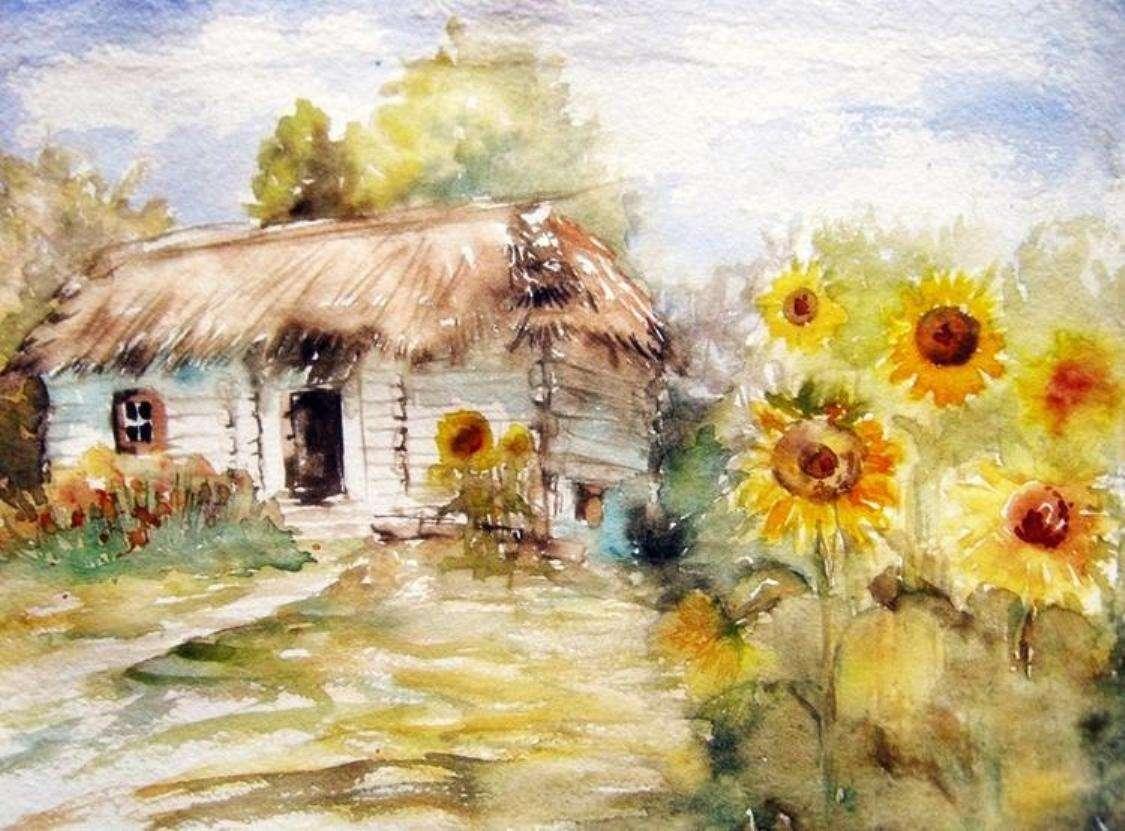 malování - krajina v olejomalbě (13×10)