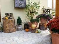 Decoração de outono na frente da casa - Decoração de outono na frente da casa