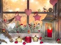 Decoração de natal na janela - Decoração de natal na janela