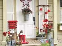 Ozdoby świąteczne przed wejściem do domu - Ozdoby świąteczne przed wejściem do domu