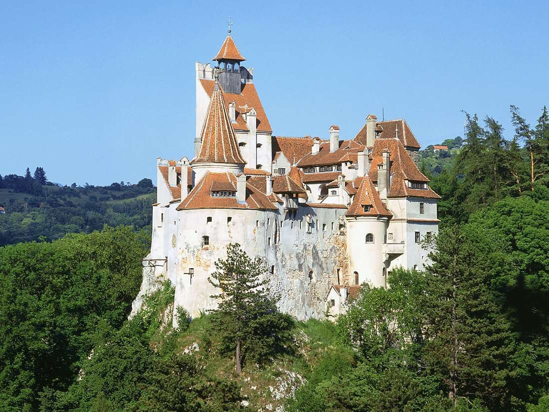 Zamek na skale - Góry zamek przyroda niebo (9×7)