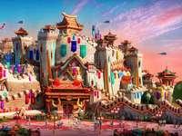 Märchenwelt-Themenpark in China.