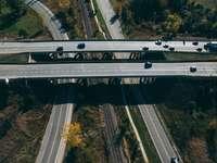 luchtfotografie van snelweg