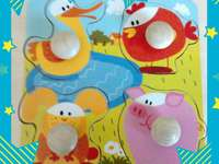 Small puzzle - Puzzle For baby, funny animals