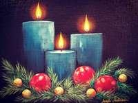 Peindre les bougies de l'Avent