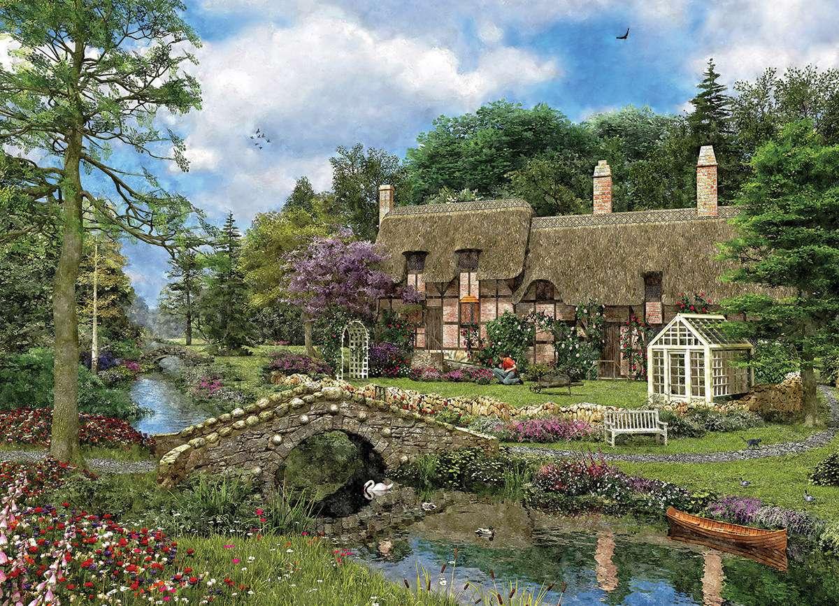 αχυρένιο σπίτι στο δάσος