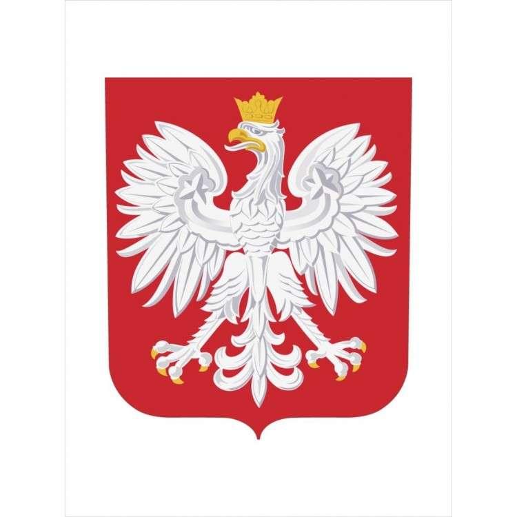 znak Polska - národní symbol, znak Polska (4×4)