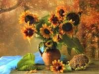 Floarea-soarelui în vază - Floarea-soarelui într-o vază ........