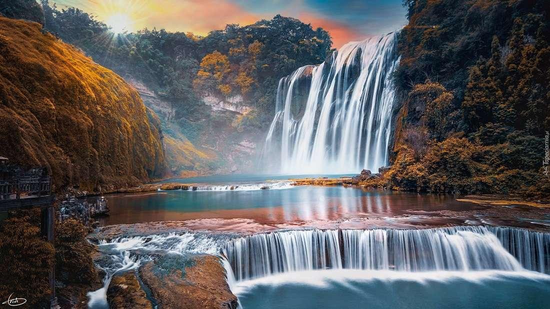Изглед - Водопад природа небе (10×6)