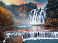 View - Nature waterfall sky