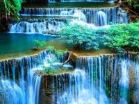 view - green nature waterfall