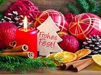 Décoration de Noël sur table