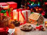 Decoración navideña en mesa - Decoración navideña en mesa