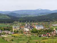 View - Mountains, nature, town
