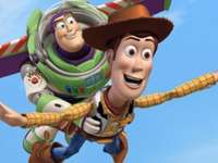Toy Story - Två bästa vänner skrattar och springer
