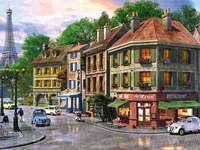 paryż po deszczu