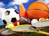 Sports balls - Arrange the picture and see what tools it contains