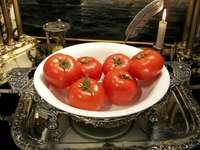 rajčata v porcelánu