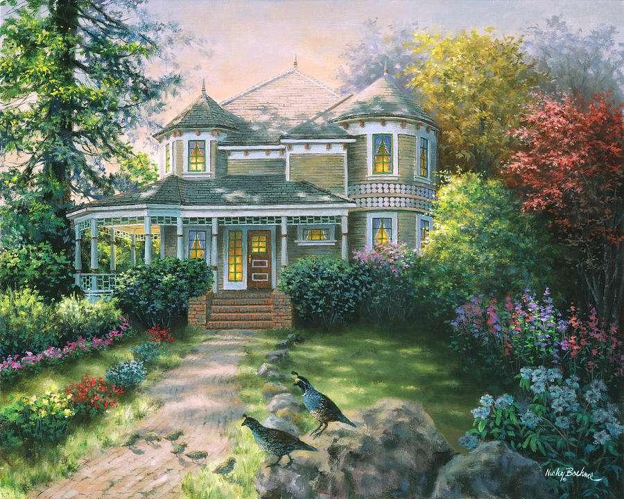 Casa de pintura no campo (12×10)