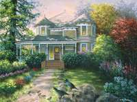 Painting house in the country