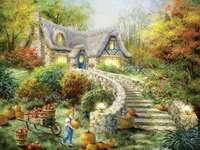 Malířský dům na venkově Dýňová sklizeň