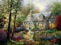Бояджийска къща в гората с градина