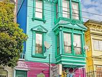 Façades de maison colorées