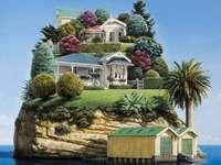 Villa sur une mini île rocheuse - Villa sur une mini île rocheuse