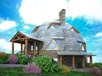 A utopian spherical house