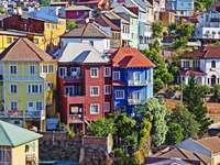 Casas coloridas Valparaiso Chile
