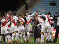 Hráči peruánského národního týmu.