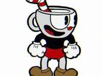 cuphead tekening - cartoon beker hoofd
