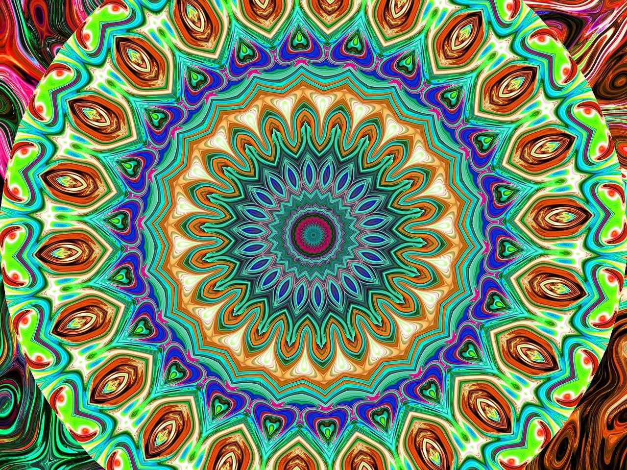 Mandala i många färger