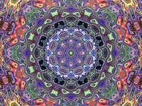 Mandala v mnoha barvách