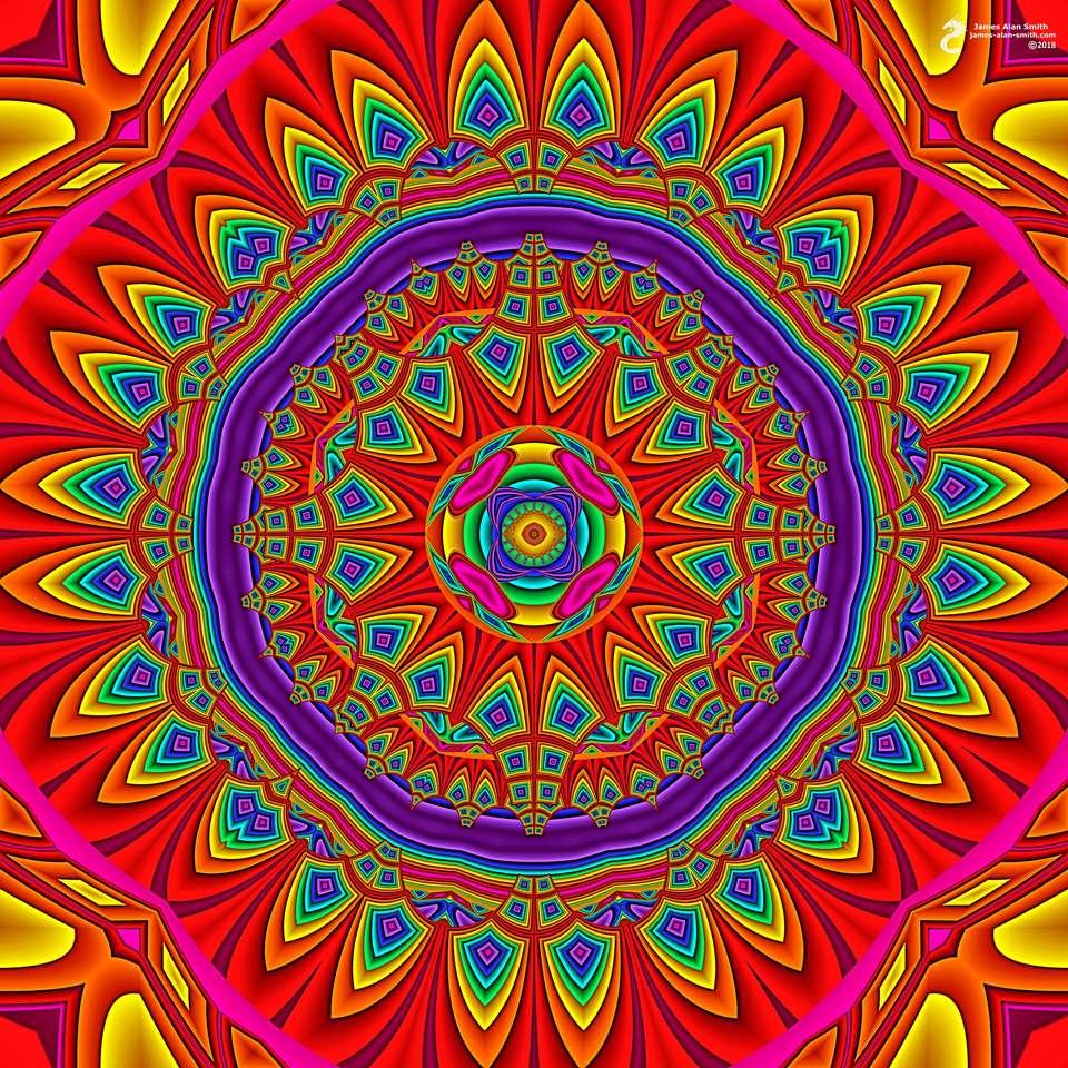 Mandala in many colors - MandalaMandala in many colors in many colors (11×11)