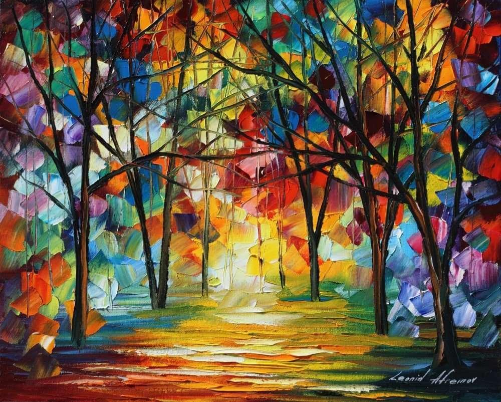 Рисуване на цветни дървета (12×10)