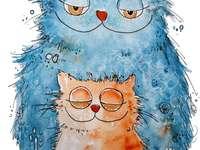 Рисуване на бухал майка и дете сова - Рисуване на бухал майка и дете сова