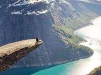 Тролтунга-Норвегия. - Пъзел с пейзаж.