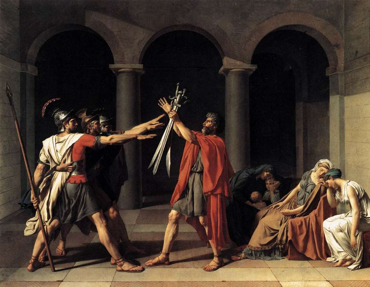 The Oath of Horace - artist Jacques-Louis David (10×8)