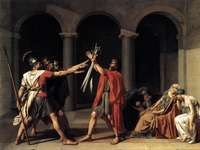 Le serment d'Horace - artiste Jacques-Louis David