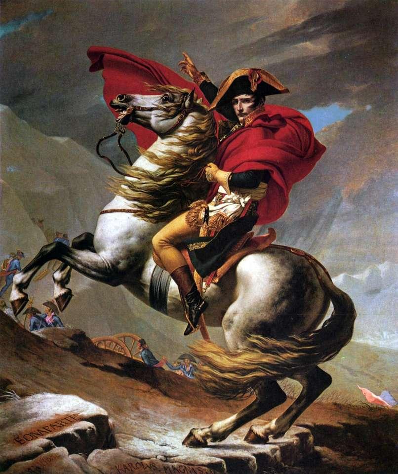 Napoléon traverse les Alpes - peinture de Jacques-Louis David (6×8)