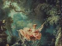 Rococo painting Swing