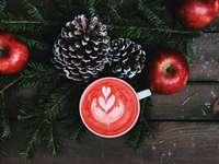 Een kopje koffie in de winter
