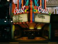 Crest movie theater in the city