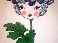 """ALA - Konstruktion - """"Autumn in the flower garden"""" - Lös ett pussel som representerar en bild med höstblomman, krysantemumet"""