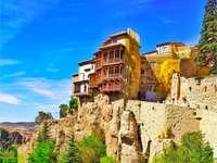 hus på klipporna i Castilla