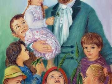 E. Bojanowski et les enfants