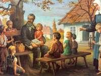 Ed.Bojanowski-orphelinat - Edmund Bojanowski - avec des enfants dans un orphelinat